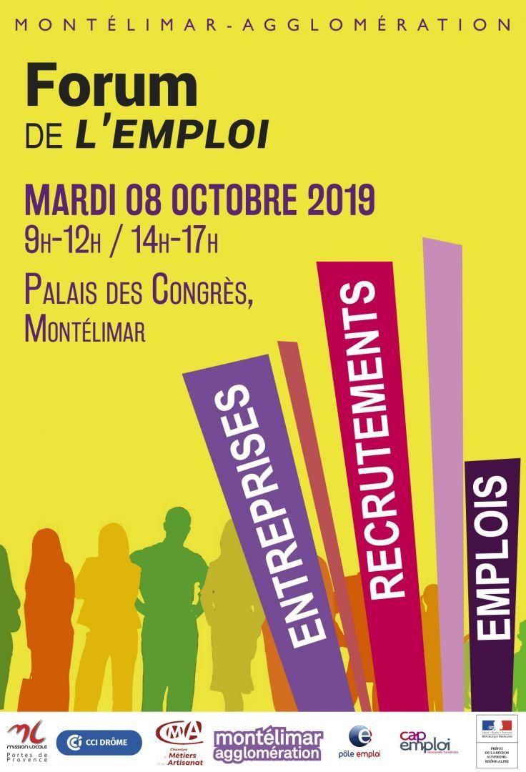 Forum De L Emploi Le Mardi 8 Octobre Montelimar Agglomération